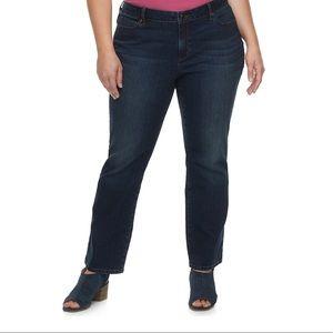 Sonoma curvy mid rise bootcut jeans dark wash